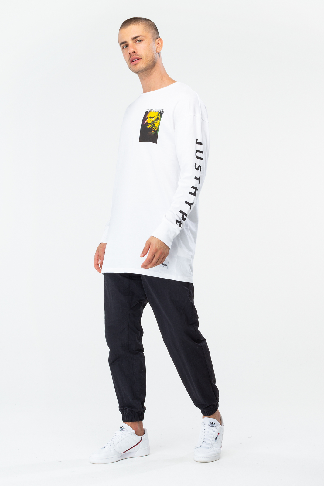 Just Hype: Mens L/S T-Shirt - Lagoon Creature M image