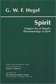 Spirit by G W F Hegel image