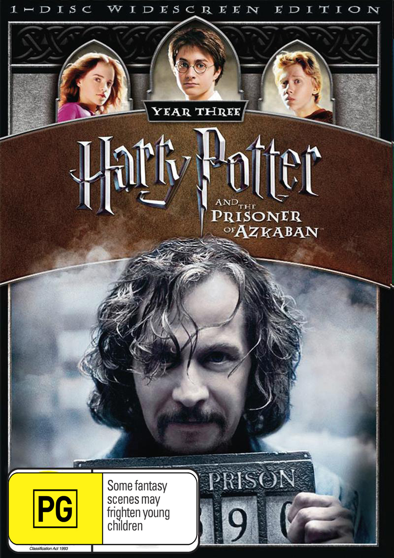 Harry Potter and the Prisoner of Azkaban - 1 Disc (New Packaging) DVD image