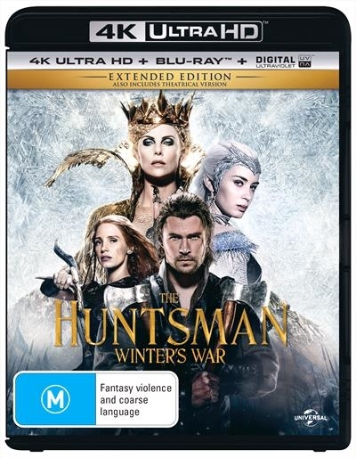 The Huntsman: Winter's War - Extended Edition on Blu-ray, UHD Blu-ray image