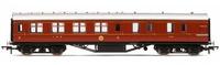 Hornby: LMS Corridor Brake 3rd Class '5726', Crimson Lake