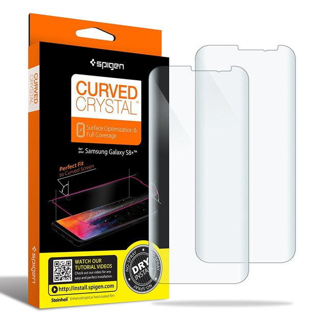 Spigen: Galaxy S8+ Curved Film Screen Protector Pack