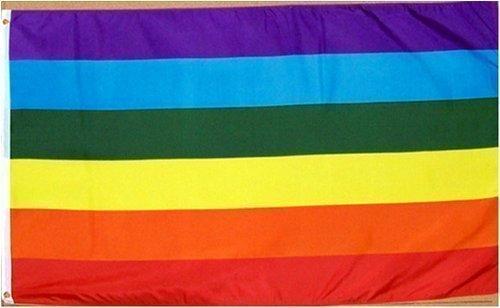 Rainbow Polyester Flag (91 x 152cm)