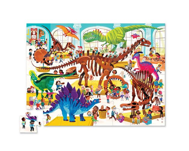 Crocodile Creek: Shaped Box Puzzle - Dinosaur (48pc)