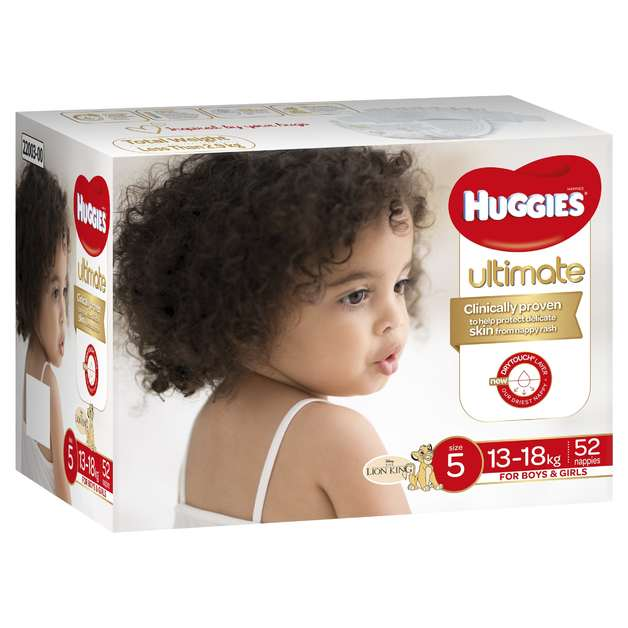 Huggies: Ultimate Nappies Jumbo - Size 5 Walker Unisex (52)