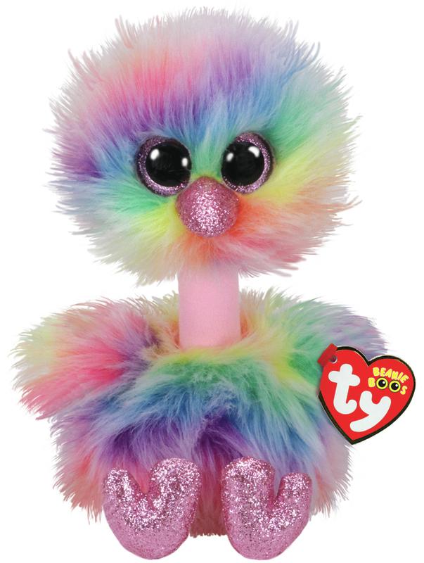 Ty Beanie Boo: Pastel Ostrich - Medium Plush