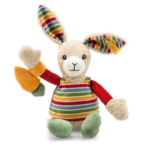 Steiff: Carrie Rabbit - Beige/Red/Green