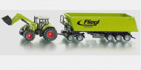 Siku Claas Axion 850 with Front Loader & Trailer