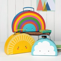 Suitcase Weather Friends Set of 3