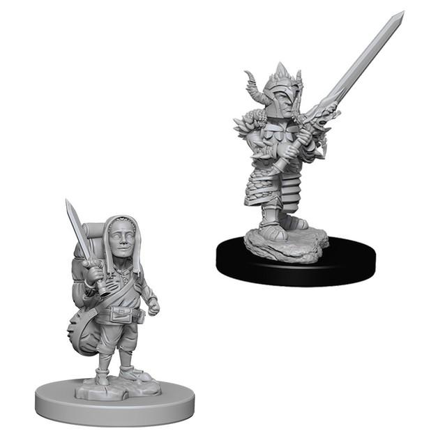 D&D Nolzurs Marvelous: Unpainted Miniatures - Male Halfling Fighter