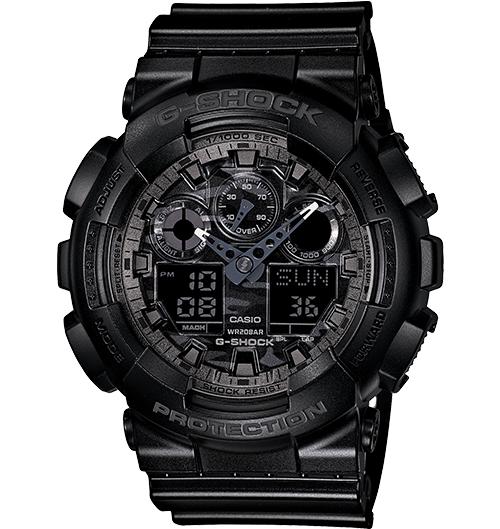 Casio G-Shock Analogue/Digital Mens Camouflage Black Watch GA100CF-1A GA-100CF-1ADR