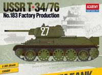 Academy 1/35 Ussr T-34/76 #183 Factory Scale Model Kit