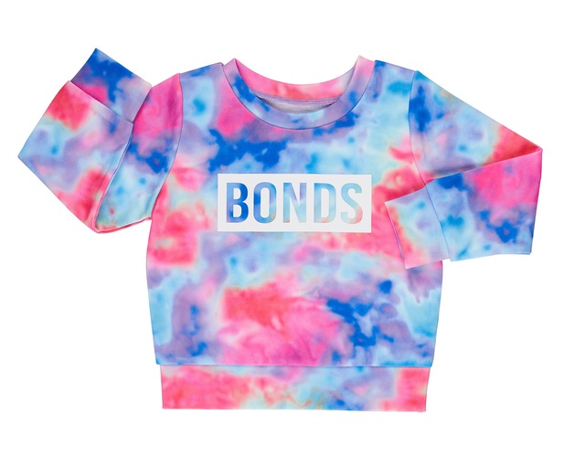 Bonds: Digi Sweats Pullover - Rainbow Tie Dye (Size 000)