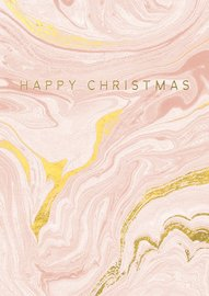 Hammond Gower: Happy Xmas (Marbled) - Greeting Card