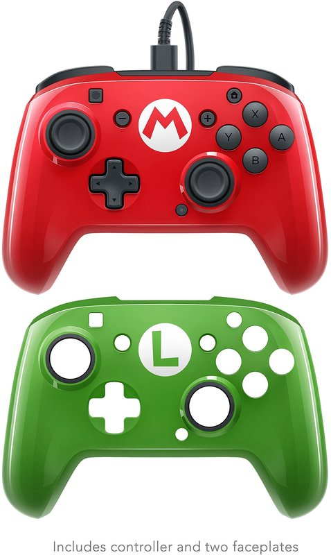 PDP Faceoff Wired Pro Controller for Switch - Mario (2 pack) for Switch