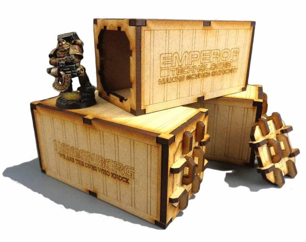 TTCombat: Tabletop Scenics - Mecharium Containers (x3) image