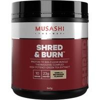 Musashi Shred & Burn Protein Powder - Vanilla Milkshake (340g)