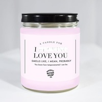 Whiskey River Co: I F**king Love You Candle image