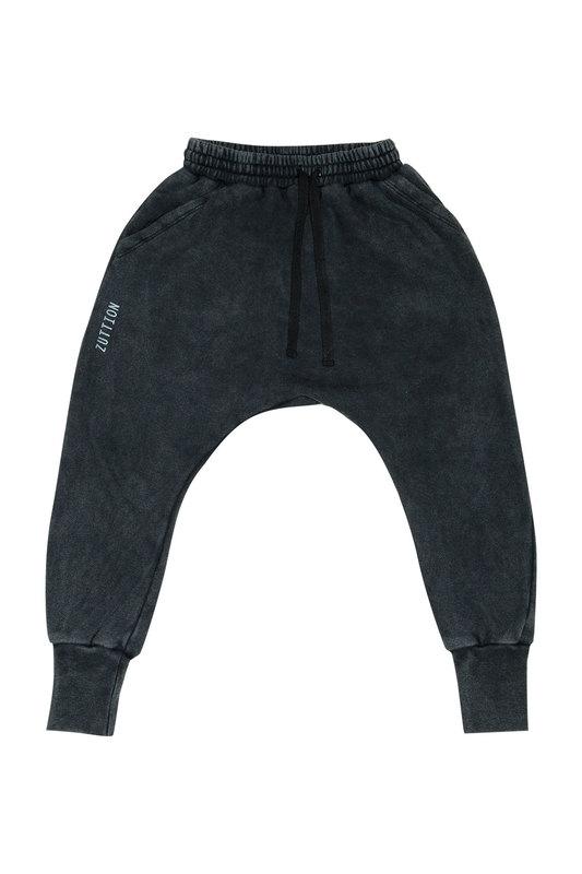 Zuttion Kids: Low Crotch Trackie Pants Charcoal - 9-10