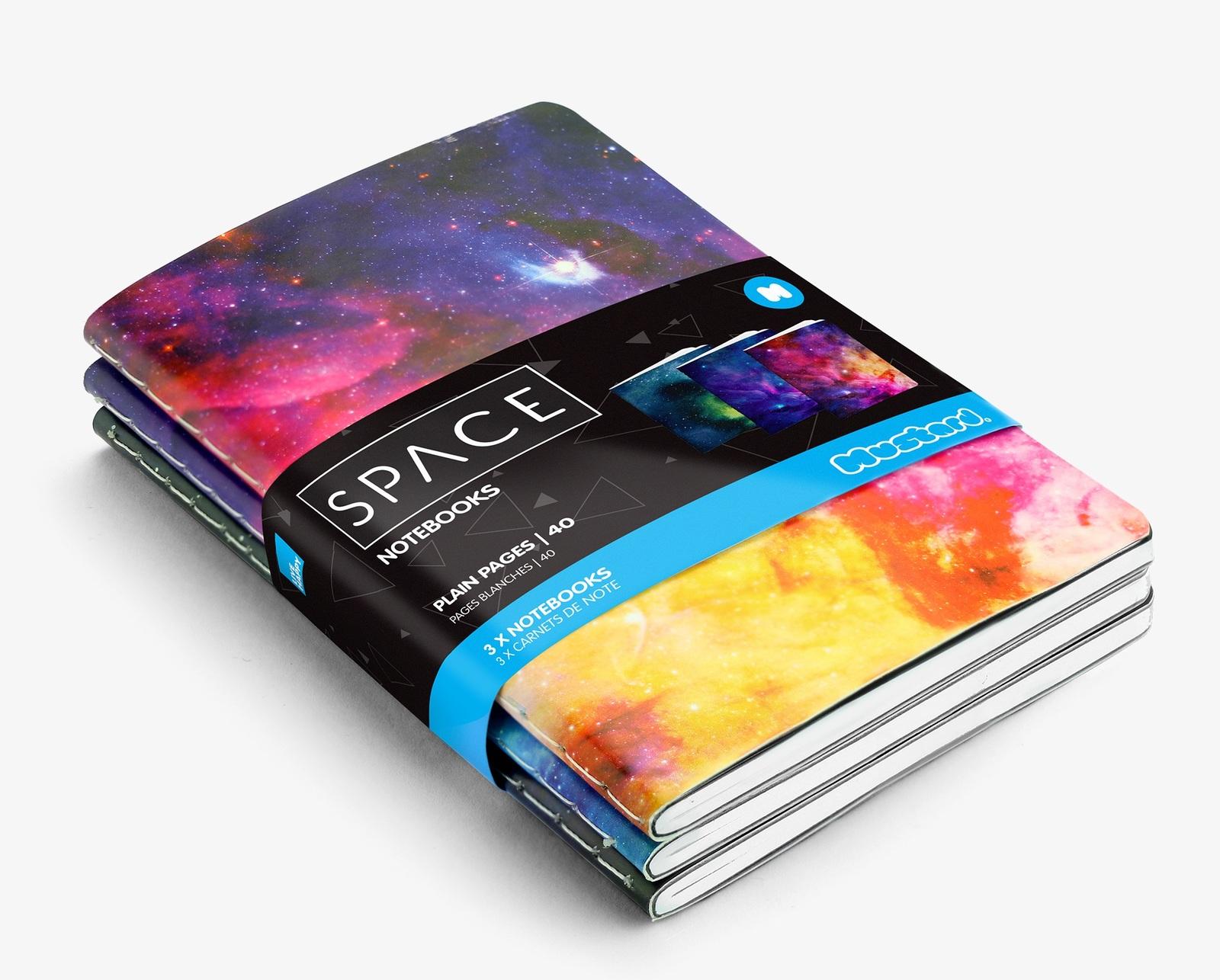 Space Notebooks Set - (Set of 3) image