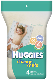 Huggies Baby Change Mats - 4 Pack