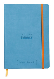 Rhodiarama A5 Goalbook Dot Grid - Turquoise