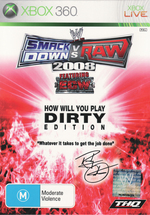 WWE Smackdown Vs RAW 2008 Dirty for Xbox 360