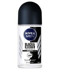 Nivea Roll On Men's Deodorant - Invisible Black & White (50ml)