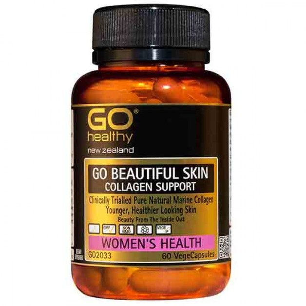 Go Healthy: GO Beautiful Skin - Collagen Support (60 Capsules)