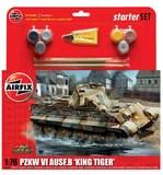 Airfix King Tiger Tank Starter Set 1/76 Model Kit