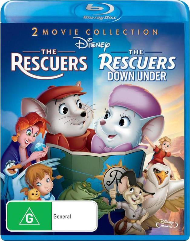 Rescuers / Rescuers Down Under on Blu-ray