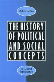 The History of Political and Social Concepts by Melvin Richter image