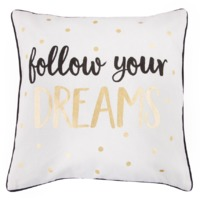 Metallic Monochrome Dreams Cushion