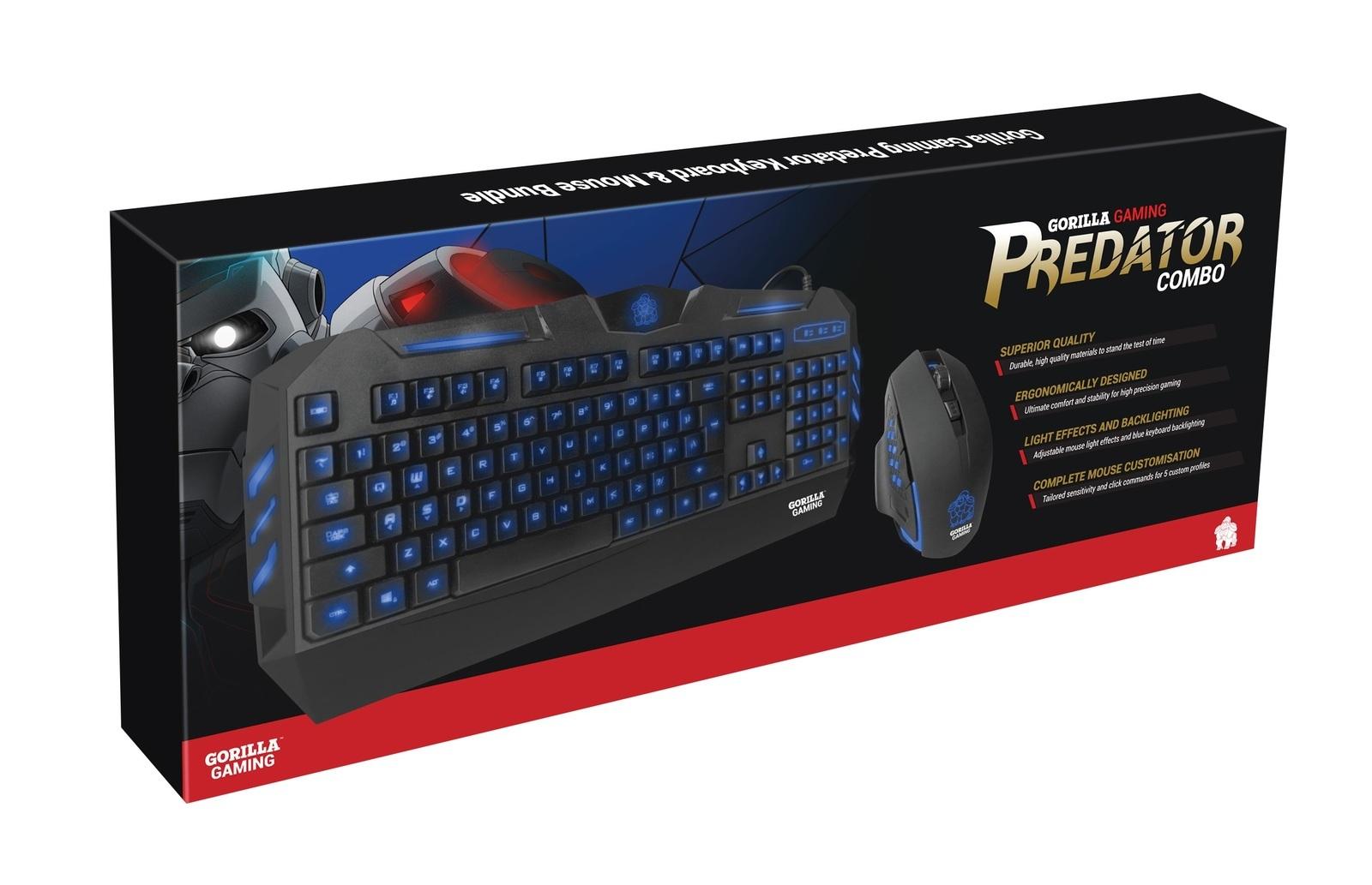 Gorilla Gaming Predator Keyboard & Mouse (Blue) image