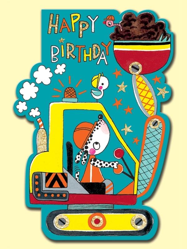 Rachel Ellen: Happy Birthday Digger Card