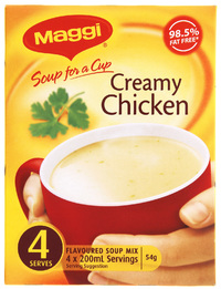 MAGGI Soup for a Cup Creamy Chicken 54g 48pk image