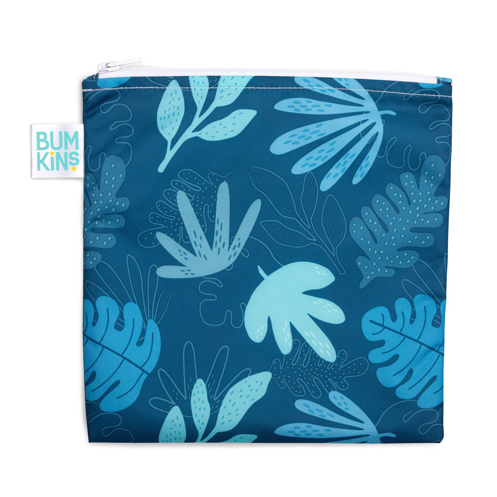 Bumkins: Large Snack Bag - Blue Tropic image