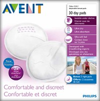 Avent Disposable Breast Pads - Day (30pk)