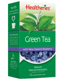 Healtheries Green Tea with NZ Blueberry (Pack of 20)