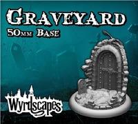 Wyrdscapes: Graveyard #1 - Terrain Base (50mm)