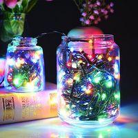 Solar String Lights - 200 LED Multicolour Fairy Lights image