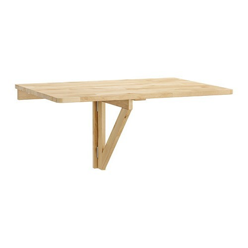 Solid Birch Wood Wall-Mounted Table image