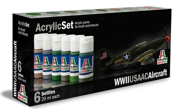 Italeri Acrylic Paint Set: WWII USAAC