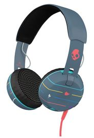 Skullcandy Grind On-Ear W/Tap Tech-Stripes/Navy/Blue