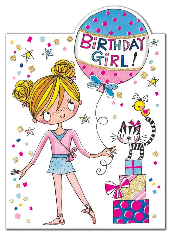 Rachel Ellen: Little Ballerina Birthday Girl Card