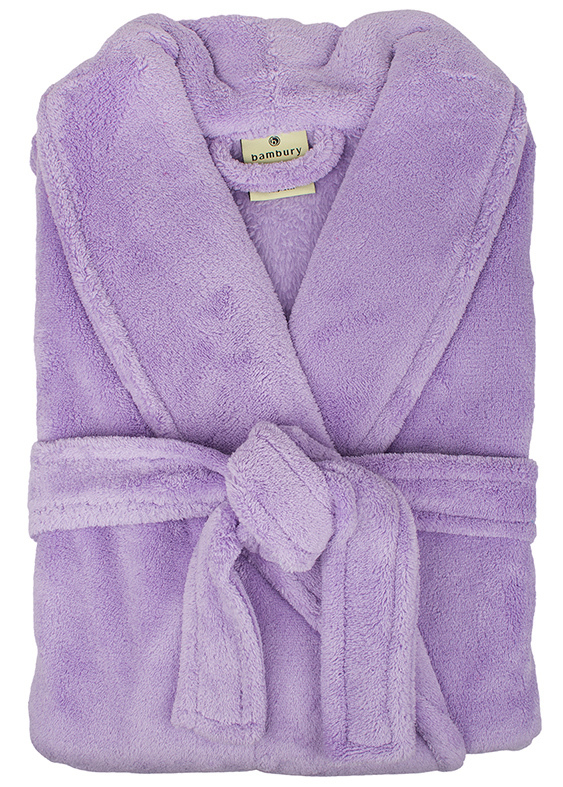 Bambury: Retreat Microplush Robe - Lavender M/L
