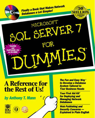 Microsoft SQL Server 7 For Dummies by Anthony T Mann image