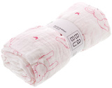 Babu Muslin Wrap - Pink Elephant