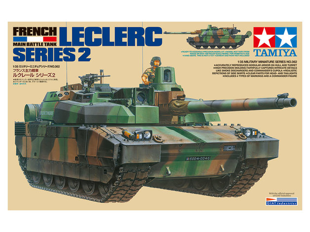 Tamiya 1/35 French Main Battle Tank Leclerc Series 2 - Model Kit