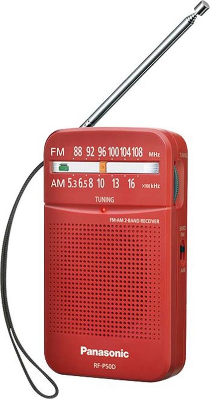 Panasonic: Portable Radio - Red